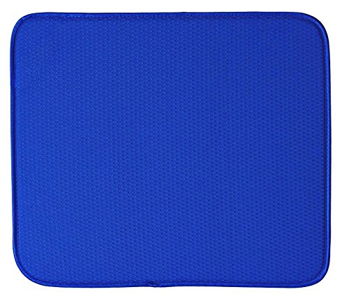 Envision Home Dish Drying Mat - 16 × 18 - Blue