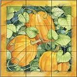 The Tile Mural Store - Pumpkins by Kathleen Parr McKenna - Kitchen Backsplash / Bathroom wall Tile Mural