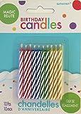 Candy Stripe Candles-asst.10/pkg