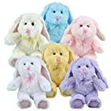 Multipack of 6 Floppy Eared Plush Bunny Animals