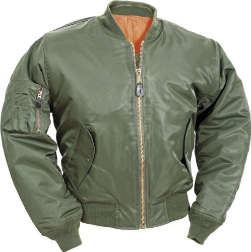 MENS MA1 MILITARY ARMY PILOT SECURITY DOORMAN BOMBER MENS WORKWEAR JACKET BIKER GREEN SIZE S