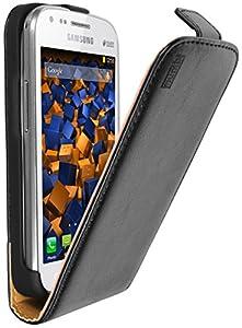Mumbi PREMIUM housse en Cuir véritable pour Samsung Galaxy S Duos Noir