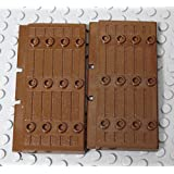 LEGO Brown Castle Door 1x5x7 Half Stockade Doors Reddish Brown X 2PC