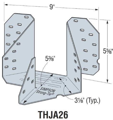 Simpson Strong Tie THJA26 Truss Hip/Jack Girder Hangers