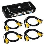 Globalebuy 4 Port USB KVM Switch Box...