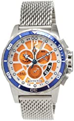 cf1094153 Invicta Specialty GMT Multi-Function Orange Dial Stainless Steel Mens Watch  80268
