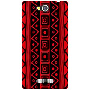 Sony Xperia C Back Cover - Red Print Designer Cases