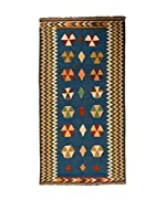 Navaei & Co. Alfombra Persian Old Kilim Kashkai Azul/Multicolor 210 x 107 cm