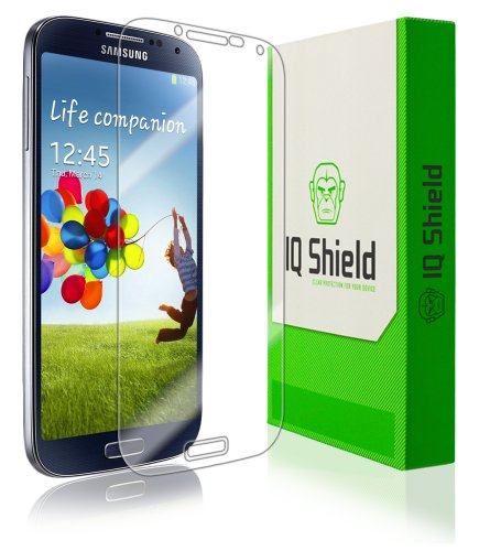Iq Shield Liquidskin - Samsung Galaxy S4 Screen Protector - High Definition (Hd) Ultra Clear Phone Smart Film - Premium Protective Screen Guard - Extremely Smooth / Self-Healing / Bubble-Free Shield - Kit Comes With Retail Packaging And 100% Lifetime Repl