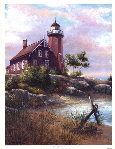 Eagle Harbor Light HIGH QUALITY CANVAS Print