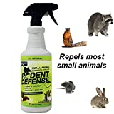 Rodent Defense Small Animal All Natural Deterrent and Repellent 32oz Spray for squirrels, rabbits, rats, gopher, raccoon and more!