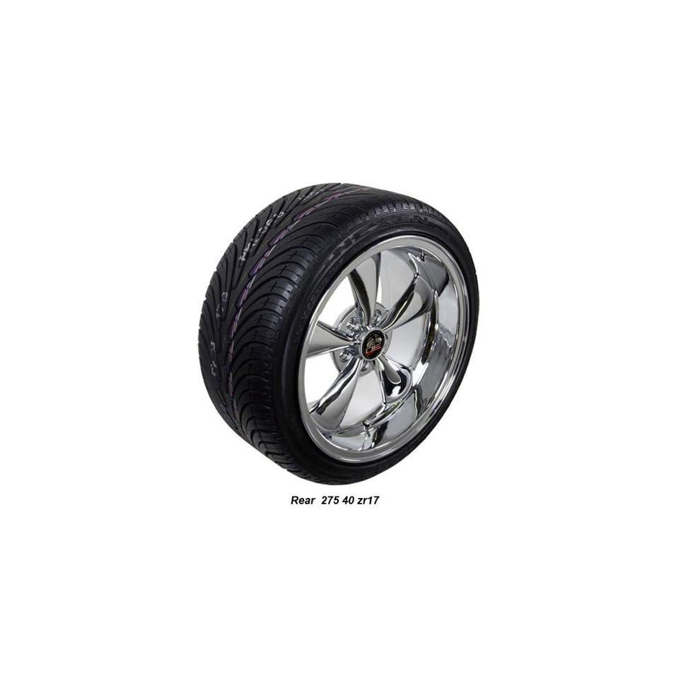 Wheel1x   17 Fits Mustang® Bullitt   Bullet Style Replica Wheels tires   Chrome 17x9 / 17x10.5