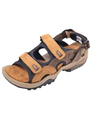Woodland Brown Leather Men's Sandals  - 8 UK