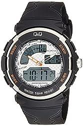 Q&Q Standard Dual Time Analog-Digital White Dial Mens Watch M012-001