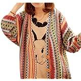 Sanwood Women's BOHO Wave Stripe Knit Top