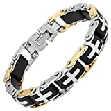 Willis Judd New Mens Cross Stainless Steel Bracelet in Velvet Bracelet Box