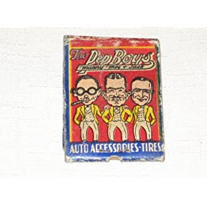 Boys Corporate Office on Amazon Com  Vintage Matchbook   Pep Boys Auto Accessories  Everything
