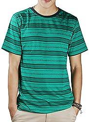 #OOTD Men's Cotton T-Shirt (Bottle Green, 40)