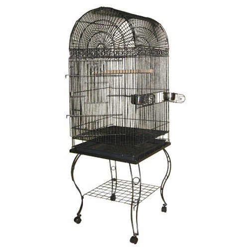 Cheap Victorian Dome Top Bird Cage – Black (600ABLACK)