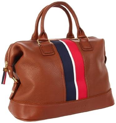 Tommy Hilfiger Top Handle Pebble Leather Satchel汤米真皮手提包折后$138.6