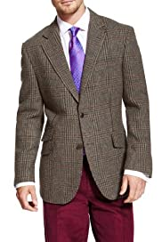 Luxury Pure New Wool 2 Button Multi-Checked Jacket [T19-7255-S]