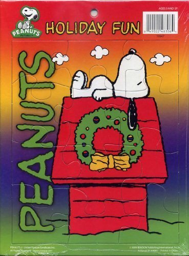 Peanuts Holiday Fun Snoopy on Doghouse Frame Tray Puzzle