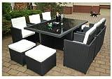 Gartenmbel-PolyRattan-Essgruppe-Tisch-mit-6-Sthlen-4-Hocker-DEUTSCHE-MARKE-EIGNENE-PRODUKTION-Garten-Mbel-incl-Glas-und-Sitzkissen-Ragnark-Mbeldesign