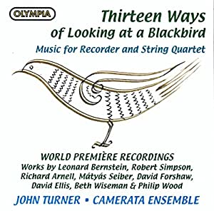 Thirteen Ways Of Looking At A Blackbird - Music For Recorder