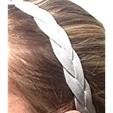 It S Ridic No Slip Grip Non-Slip Sports Athletic Nylon Triple Braided Sports Headband Grey