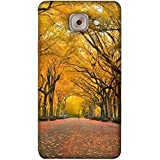 PrintVisa Designer Back Case Cover For Samsung Galaxy On Max (Brown Yellow Green Long Trees Garden)