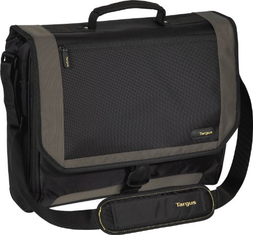 51UkGvwqSdL. SL500  Targus CityGear 17 Inch Miami Messenger Case for Notebooks with Bonus Sleeve   Black with Grey (BUS0369)