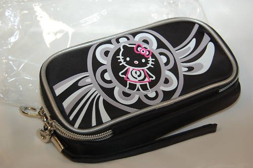 Hello Kitty Makeup Cosmetic Tote Bag Black with Mirror