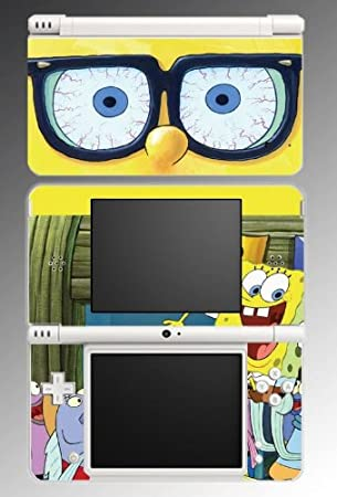 Sponge Bob Square Pants Game Vinyl Decal Skin Protector Cover 4 for Nintendo DSi XL
