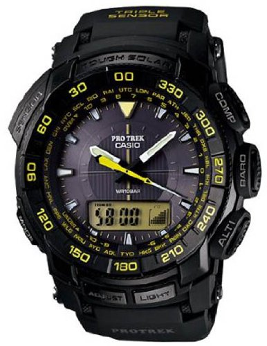 Casio Men's PRG-550-1A9 Pro Trek Tough Solar Black Dial  Watch Reviews