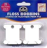 DMC 6102 Plastic Floss Bobbins, 28-Pack