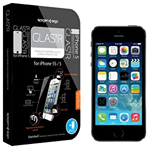 SPIGEN SGP SGP09548 GLAS.tR Premium Tempered Glass Screen Protector for iPhone 5/5S (0.5mm) - 1 Pack - Retail Packaging - Oleophobic Coating