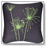 Wabisabi Green Papyrus Eco Throw Pillow Cover