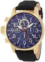 Invicta Men's 1516 I Force Collection 18k Gold Ion-Plated Stainless Steel and Cloth Watch from Invicta