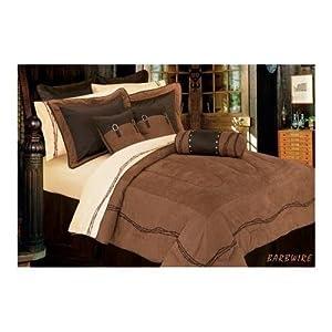 Barbwire Western Comforter Set - Twin