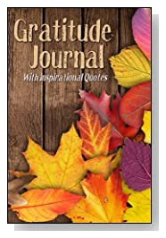 Fall Leaves At Wood Fence Gratitude Journal