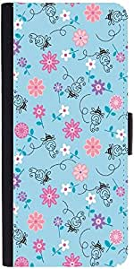 Snoogg Girly Bee Pattern Graphic Snap On Hard Back Leather + Pc Flip Cover So...