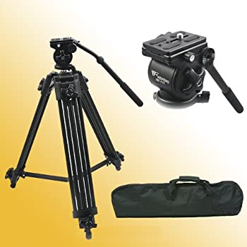 The Fancier AVTP is a complete Professional 75mm Video Tripod including legs, mid-level spreader, dual fluid head and carry bag.The legs are a 3-Segment Interlocking Crutch-Type design with a mid-level spreader providing oustanding stability for Vi...