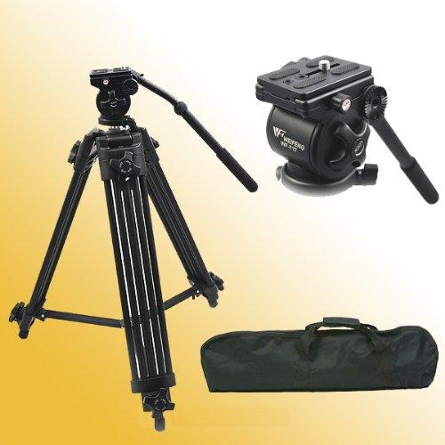 Fancier Professional Heavy Duty Video Camcorder Tripod Fluid Drag Head Kits by CowboyStudio WF717 Black