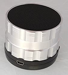 Portable Bluetooth Wireless Speaker with Microphone - Powerful Wireless Speaker - Compatible with iPhones, Samsung, Galaxy,Nokia, HTC, Blackberry, Google, LG, Nexus, iPad, Tablets, Mobile Phones, Smartphones, PC's, Laptops etc. Silver