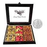 Chocholik Belgium Chocolates - Nicely Decorated Chocolates & Dry Fruits Box With 5gm Pure Silver Coin - Gifts...