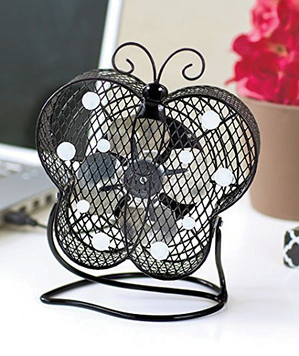 Butterfly Sculpture and USB Fan, Combine Art, Home Decor, Nature, and Comfort in This Eye-catching Complement to Any Home. Just Attach to Your Computer's USB Port, Swivel the Butterfly to Your Desired Angle and Enjoy