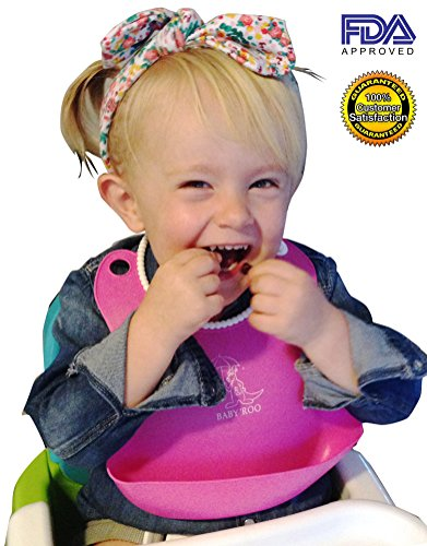 2-Pack (Pink/Yellow) Waterproof Baby Bibs With Pocket For Catching Messy Spills Or Holding Snacks - Perfect For Boys And Girls - Stain-Resistant - Easily Wipes Clean Or Top Level Dishwasher Safe - Convenient Snap Closure To Fit Growing Babies - Free Homem front-145777