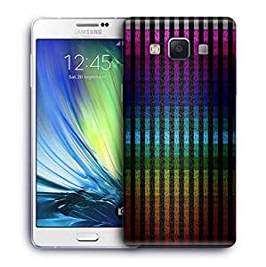 Snoogg Colourful Stripe Printed Protective Phone Back Case Cover For Samsung Galaxy A7