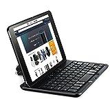 Mpow ワイヤレスキーボード iPad Mini 4専用 bluetooth対応 カバーとキーボード両用 軽量 持ち運び可