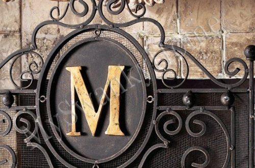 PERSONALIZED Iron Monogram Firescreen Fireplace Screen Buyers ...